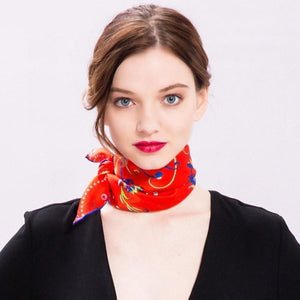 Flight of Fancy Square Silk Neckerchief