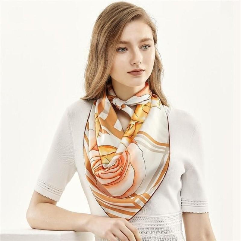 Golden Girl Square Silk Scarf