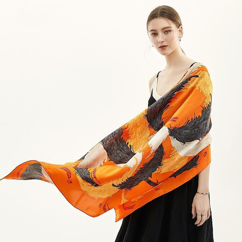 Good Harvest Square Silk Scarf