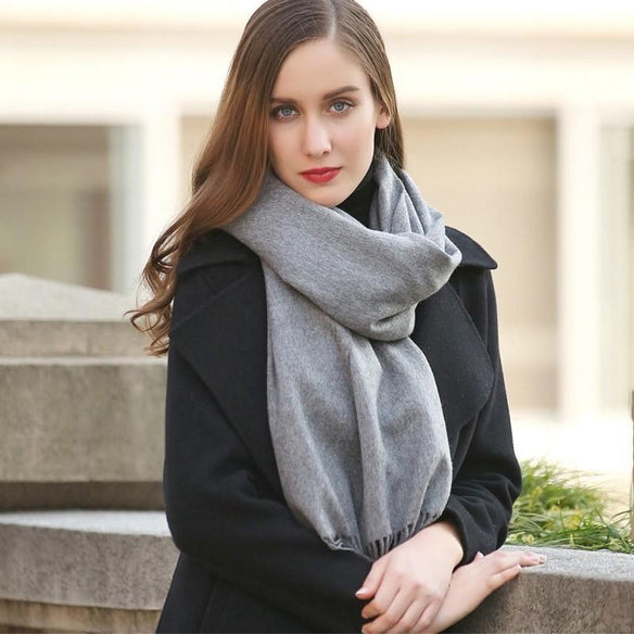 Gray Wool Shawl