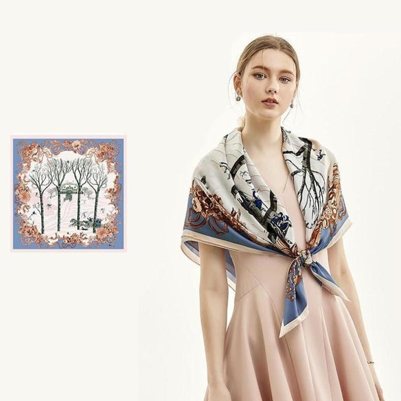 Manor House Square Silk Scarf