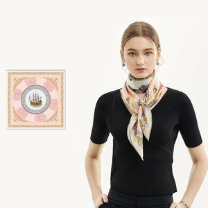 Mayflower Square Silk Scarf