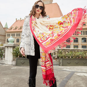 Mosaic of Kashmir Wool Shawl