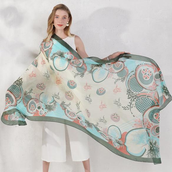 Ornate Wonderland Silk Scarf