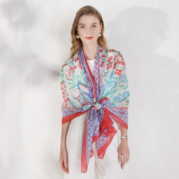 Blossoming Beauty Silk Scarf