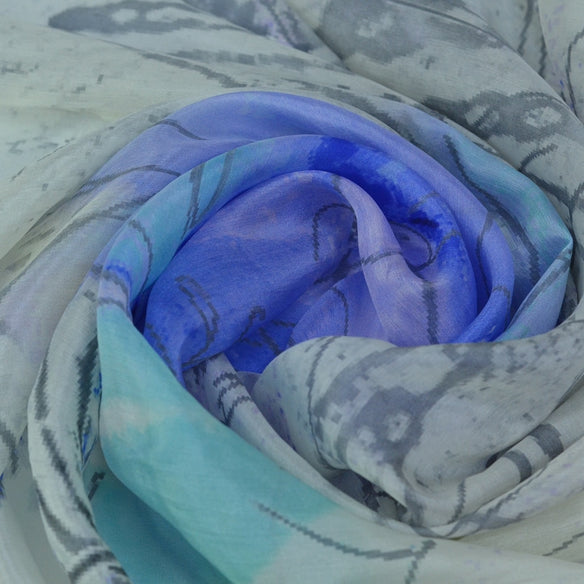 Monet's Sketch Silk Scarf