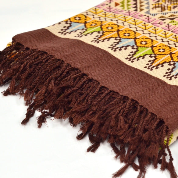Sahara Tapestry Wool Shawl