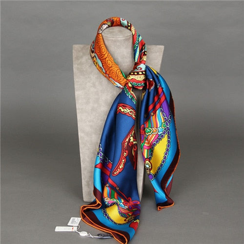 Tropical Tapestry Square Silk Scarf