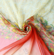 Bronze Terracotta Silk Chiffon Wrap