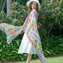 Psychedelic Dream Silk Chiffon Wrap