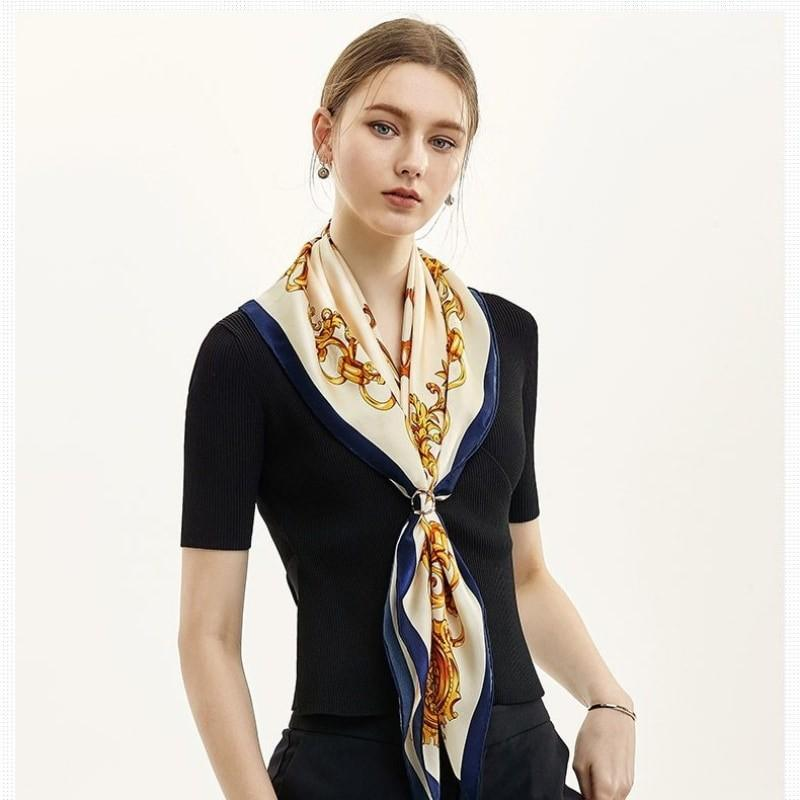 Regal Baroque Square Silk Scarf