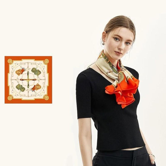 Saddle Square Silk Scarf