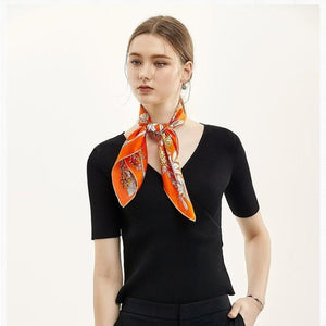 Secret Garden Square Silk Neckerchief