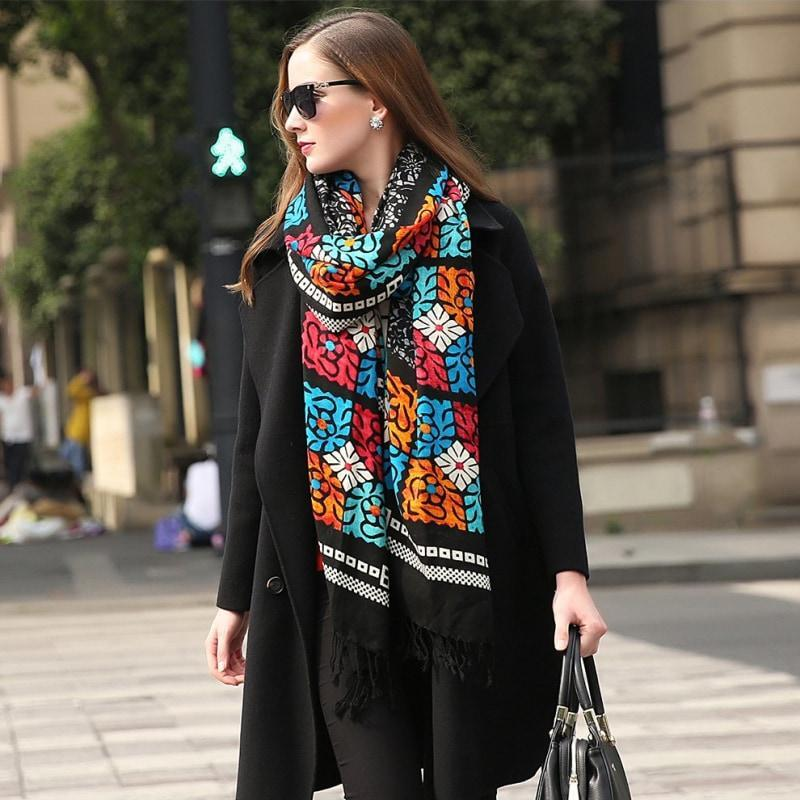 Shiraz Tile Wool Shawl