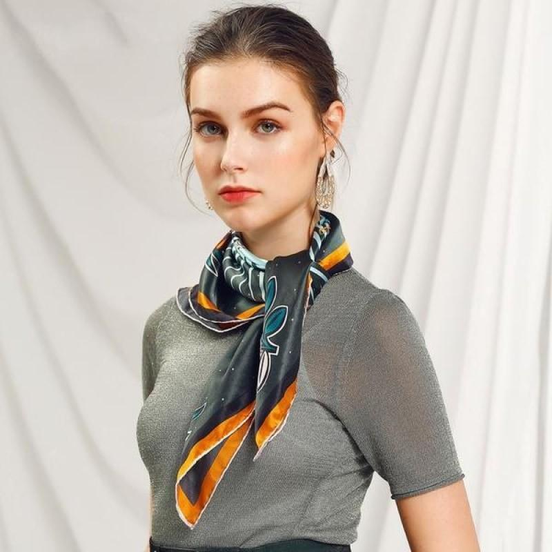Tiger Love Square Silk Neckerchief