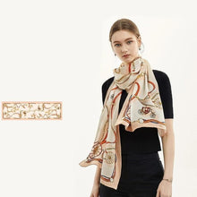 Unchained Carriage Long Silk Scarf