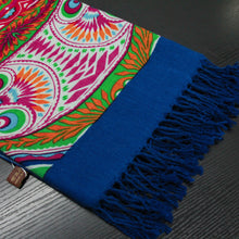 Utopian Garden Wool Shawl