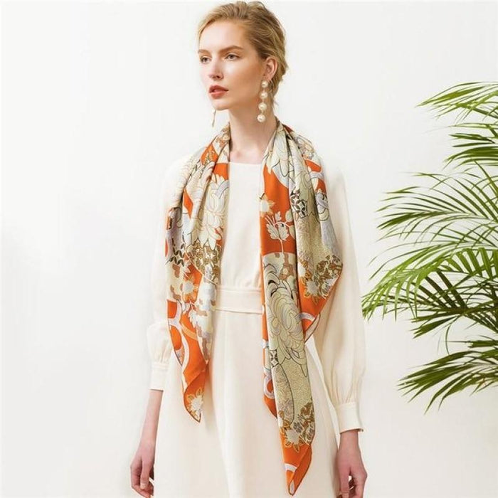 Ventilateur Square Silk Scarf