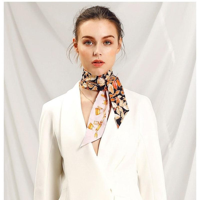 Very Charming Skinny Silk Scarf