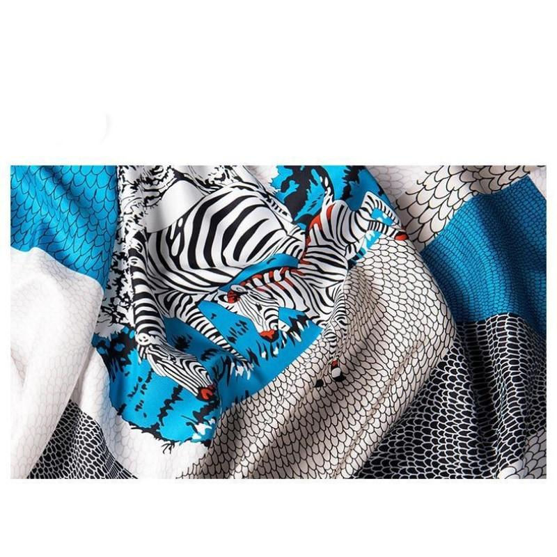 Wild Side Square Silk Scarf
