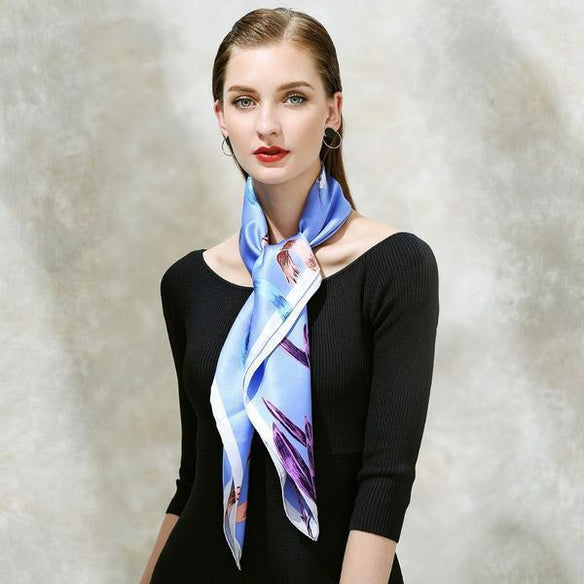 Windy Ribbon Square Silk Scarf