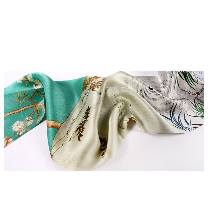Year of the Tiger Skinny Silk Scarf