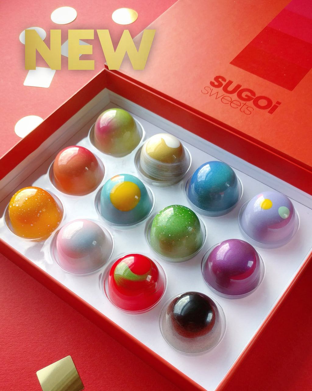 BONBON BOX of 12 - New Collection