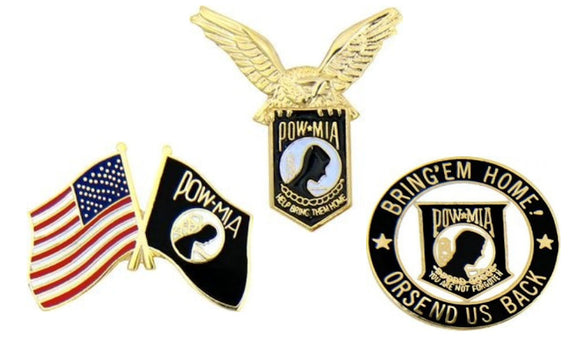 POW-MIA Hat Pins