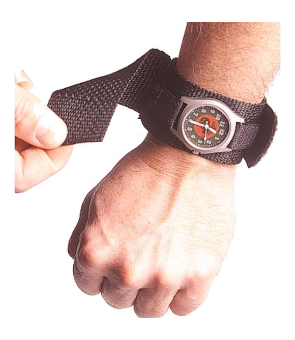 Raine Military Covered Watchband - BLACK