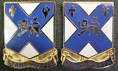 102nd Infantry Distinctive Unit Insignia - Pair - STAND FORTH