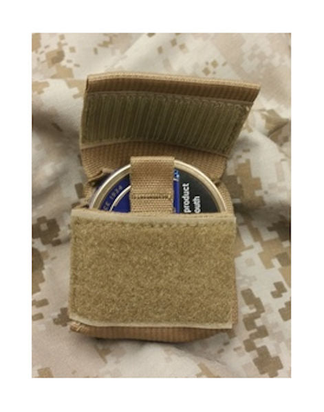 Raine MOLLE Tobacco Dip Pouch - Coyote Brown