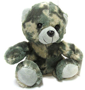 Stuffed Plush Toy Teddy Bear 7 Inch - ACU/ABU Foliage Green