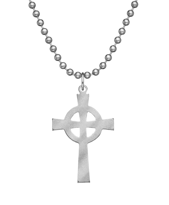 Genuine U.S. Military Issue Celtic Cross Necklace with Dog Tag Chain