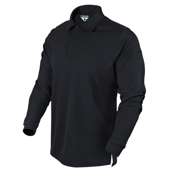 Condor Men's Long Sleeve Performance Tactical Polo Black