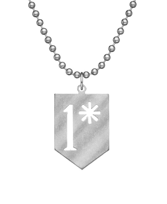 Military Issue 1 Asterisk Necklace with Dog Tag Chain