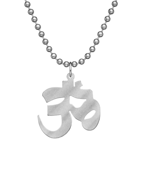 Genuine U.S. Military Issue AUM Necklace with Dog Tag Chain