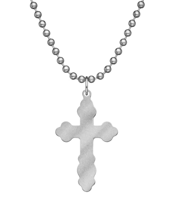 Genuine U.S. Military Issue Byzantine Cross Necklace with Dog Tag Chain