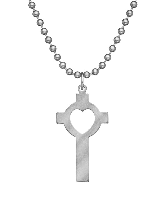 Genuine U.S. Military Issue Lutheran Cross Necklace with Dog Tag Chain