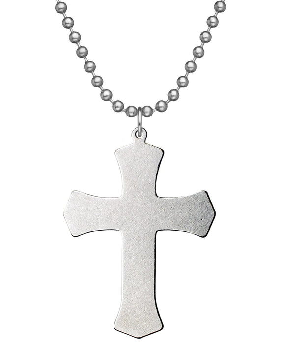 Warrior Cross Military Issue Necklace with Dog Tag Chain