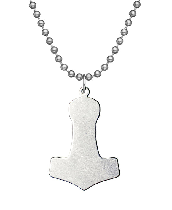 Mjolnir Hammer of Thor Military Issue Necklace with Dog Tag Chain