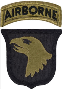 101st Airborne Division Multicam  OCP Patch with Airborne Tab