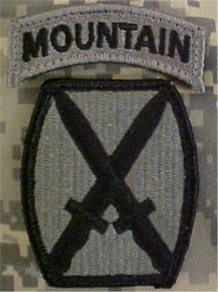 ACU Patch - 10th Mountain Division with Mountain Tab