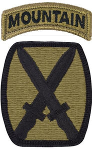 10th Mountain Division Multicam  OCP Patch with Mountain Tab
