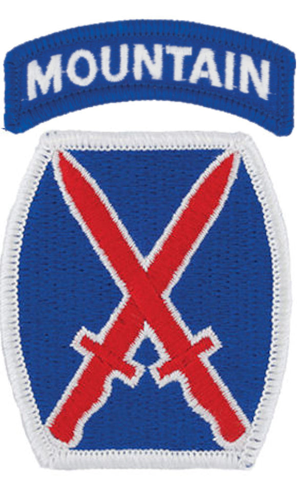 10th Mountain Division Patch with Mountain Tab