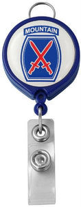 10th Mountain Division Logo Retractable Badge Holder