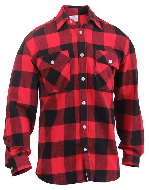 Red Lightweight Flannel Shirt
