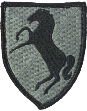 11th ACR (Armored Cavalry Regiment) ACU Patch Foliage Green - Closeout Great for Shadow Box