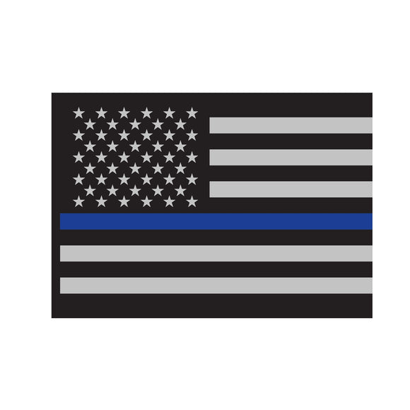 Rothco Thin Blue Line Flag Decal