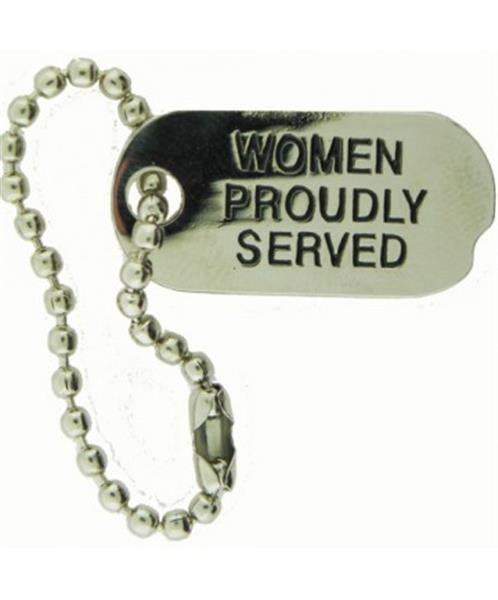 Women Proudly Served Dog Tag Pin
