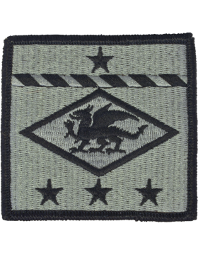 13th Finance Group ACU Patch - Foliage Green - Closeout Great for Shadow Box